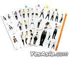 Dong Bang Shin Ki - The 3rd Asia Tour Concert 'Mirotic' In Shanghai 2009 - Big Size Sticker Set (5pcs)