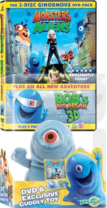 Yesasia Monsters Vs Aliens Dvd 2 Disc With Limited Plush Doll Edition Hong Kong Version Dvd Conrad Vernon Letterman Rob Deltamac Hk Western World Movies Videos Free Shipping North America Site