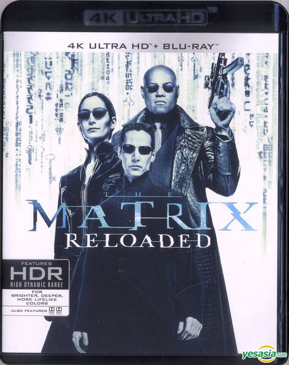 Yesasia Matrix Reloaded 2003 4k Ultra Hd Blu Ray Hong Kong Version Blu Ray Carrie Anne Moss Laurence Fishburne Deltamac Hk Western World Movies Videos Free Shipping