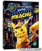 Pokemon Detective Pikachu (2D + 3D Bluray) (First Press Limited Outcase) (Korea Version)