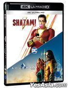Shazam! & Aquaman Double Pack (4K Ultra HD Blu-ray) (2-Disc) (Korea Version)