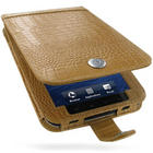 PDair Leather Case for Samsung Galaxy Tab GT-P1000/SGH-T849 - Flip Type (Brown/Crocodile Pattern)