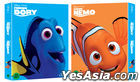 Finding Nemo + Finding Dory (Blu-ray) (3-Disc) (Korea Version)