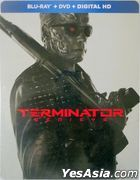 Terminator: Genisys (2015) (Blu-ray + DVD + Digital HD) (Steelbook) (US Version)