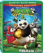 Kung Fu Panda 3 (2016) (Blu-ray) (2D + 3D) (2-Disc Edition) (Taiwan Version)