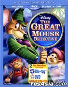 The Great Mouse Detective (Blu-ray + DVD) (Mystery In The Mist Edition) (US Version)