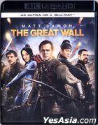 The Great Wall (2016) (4K Ultra HD + Blu-ray) (Hong Kong Version)