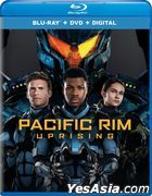 Pacific Rim Uprising (2018) (Blu-ray + DVD + Digital) (US Version)