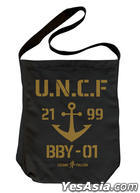 Space Battleship Yamato 2199 : U.N.C.F. Shoulder Tote Bag (Black)