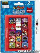 3DS 妖怪手表 Card Case 12 (红色) (日本版)
