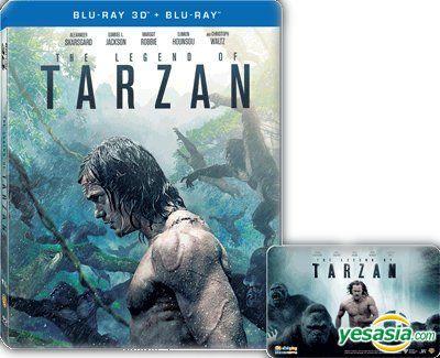 Yesasia The Legend Of Tarzan 2016 Blu Ray 2d 3d Limited Steelbook Edition Hong Kong Version Blu Ray Alexander Skarsgard Margot Robbie Warner Home Video Hk Western World Movies