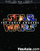 Star Wars: The Force Awakens (2015) (Blu-ray + DVD + Digital HD) (US Version)