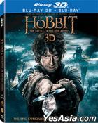 The Hobbit: The Battle of the Five Armies (2014) (Blu-ray) (2D + 3D) (4-Disc) (Lenticular) (Hong Kong Version)