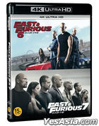 Fast & Furious 6 + 7 Collection (4K Ultra HD Blu-ray) (Korea Version)