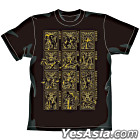 Saint Seiya : Gold Cloths T-Shirt Gold Ver. (Black) (Size: XL)