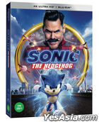Sonic the Hedgehog (4K Ultra HD + 2D Blu-ray) (First Press Slip Case + Comic Book) (Korea Version)