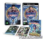Sonic the Hedgehog (4K Ultra HD + 2D Blu-ray) (First Press Slip Case + Comic Book) (Korea Version)