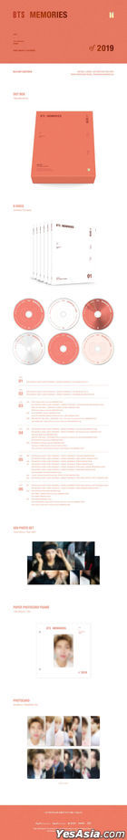 BTS Memories Of 2019 (Blu-ray) (6-Disc + Out Box + Photo Set + Paper Photo Card Frame + Photo Card) (Korea Version)
