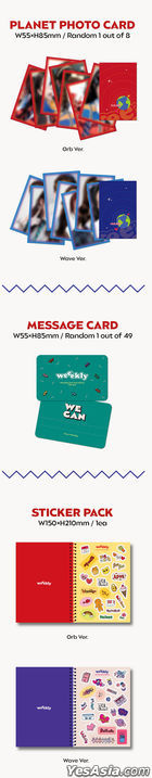 Weeekly Mini Album Vol. 2 - WE CAN (Orb + Wave Version) + 2 Posters in Tube