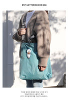 BT21 Lettering Eco Bag (Koya) (Blue)
