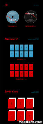 DAY6 Mini Album Vol. 6 - The Book of Us : The Demon (MIDNIGHT Version) (Random Book Cover)+ Random First Press Limited Lenticular Card + Random Poster in Tube