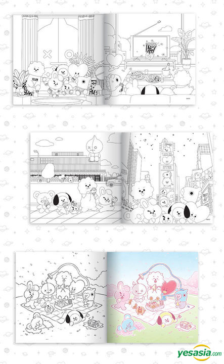 Yesasia Image Gallery Bt21 Coloring Book