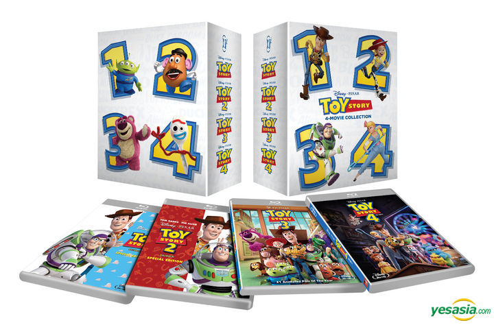 YESASIA: Image Gallery - Toy Story 1-4 4 Movie Collection (Blu-ray)  (5-Disc) (Korea Version)