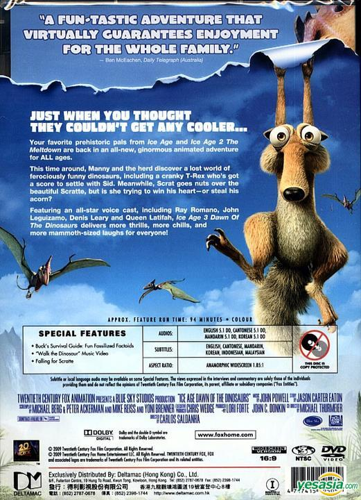 Yesasia Ice Age 3 Dawn Of The Dinosaurs Dvd Hong Kong Version Dvd Jan Lamb Sam Lee Deltamac Hk Western World Movies Videos Free Shipping North America Site
