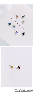 BTS: Suga Style - Rainbow Star Piercing (Piercing) (Crystal)