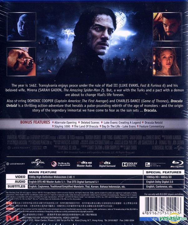 Yesasia Dracula Untold 2014 Blu Ray Hong Kong Version Blu Ray Dominic Cooper Sarah Gadon Intercontinental Video Hk Western World Movies Videos Free Shipping
