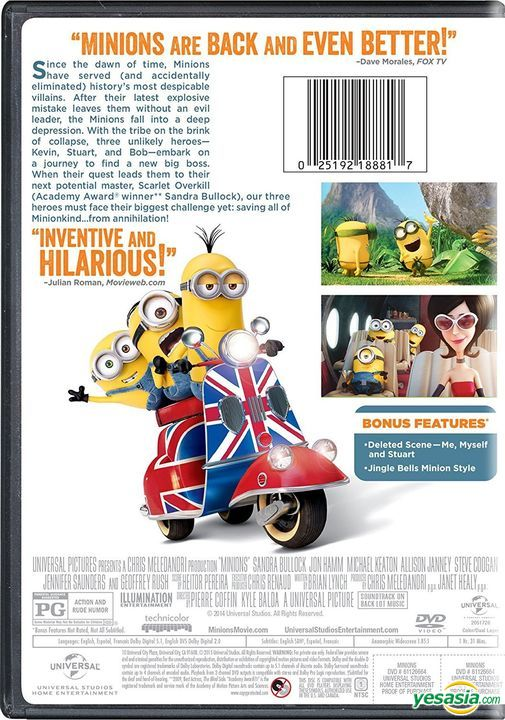 Yesasia Image Gallery Minions 2015 Dvd Us Version