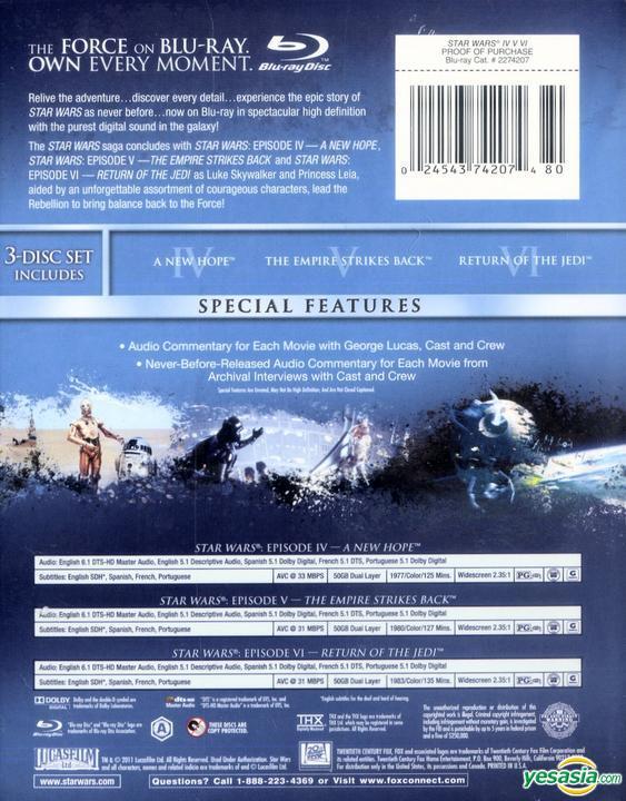 Yesasia Star Wars The Original Trilogy Blu Ray Us Version Blu Ray Harrison Ford Mark Hamill 20th Century Fox Western World Movies Videos Free Shipping North America Site
