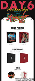 DAY6 Mini Album Vol. 4 - Remember Us : Youth Part 2 (Rew + FF Version) + Random Poster in Tube + First Press Limited Gift