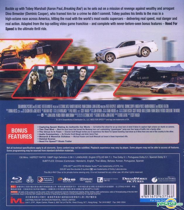 Yesasia Need For Speed 2014 Blu Ray 3d Version Hong Kong Version Blu Ray Aaron Paul Imogen Poots Intercontinental Video Hk Western World Movies Videos Free Shipping North America Site
