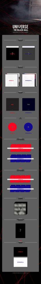 Pentagon Vol. 1 - Universe : The Black Hall (Downside Version) + Random First Press Photo Card (Downside Version) + Poster in Tube (Downside Version)