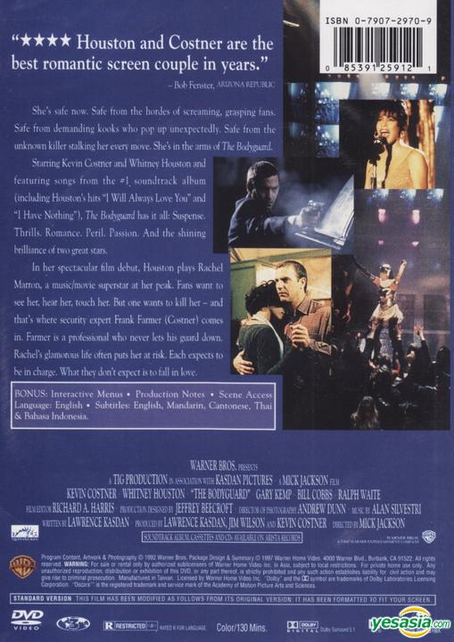 Yesasia The Bodyguard 1992 Dvd Hong Kong Version Dvd Kevin Costner Whitney Houston Warner Hk Western World Movies Videos Free Shipping