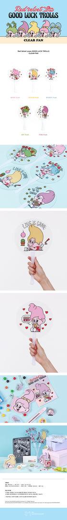 Red Velvet Loves GOOD LUCK TROLLS - Clear Fan (Wendy Troll) (Blue)