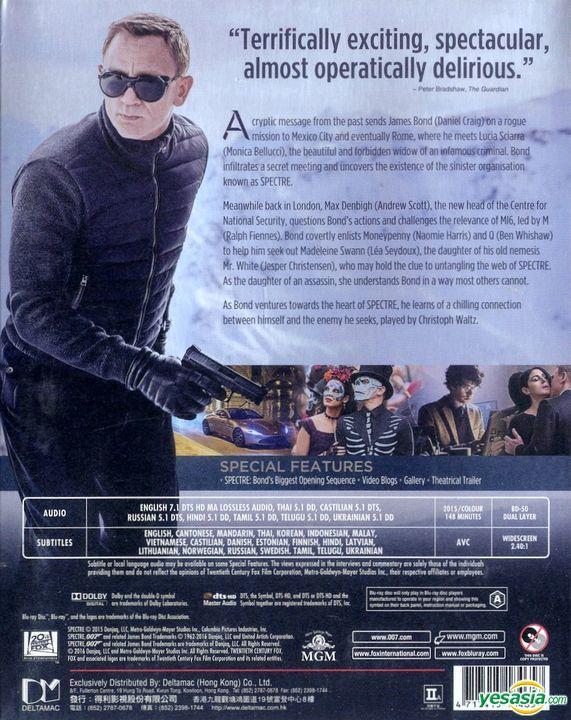 Yesasia Spectre 2015 Blu Ray Hong Kong Version Blu Ray Daniel Craig Christoph Waltz Mgm Hk Western World Movies Videos Free Shipping