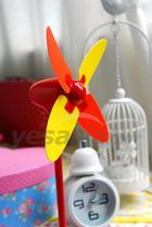 Mini USB Powered Windmill Shaped Fan (Red)