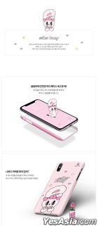 Esther Bunny Slim Hard Case (Rose and Bunny) (iPhone XR)