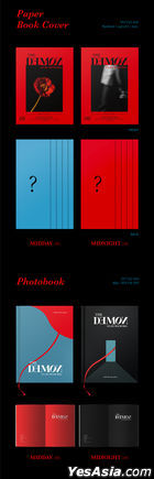 DAY6 Mini Album Vol. 6 - The Book of Us : The Demon (MIDDAY + MIDNIGHT Version) (Random Book Cover)+ 2 Random First Press Limited Lenticular Cards