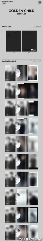 Golden Child Mini Album Vol. 5 - YES. (Random Version) + Random Poster in Tube