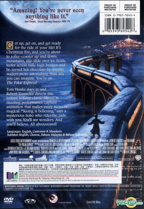 Yesasia The Polar Express 2004 Dvd Hong Kong Version Dvd Robert Zemeckis Tom Hanks Warner Hk Western World Movies Videos Free Shipping