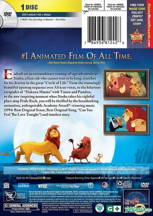Yesasia The Lion King 1994 Dvd Diamond Edition Us Version Dvd Jonathan Roberts Rob Minkoff Walt Disney Home Entertainment Western World Movies Videos Free Shipping