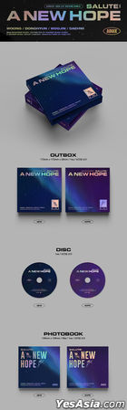 AB6IX EP Album Vol. 3 Repackage - SALUTE : A NEW HOPE (HOPE Version) + Poster in Tube (HOPE Version)