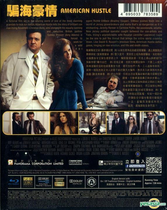 Yesasia American Hustle 2013 Blu Ray Hong Kong Version Blu Ray Christian Bale Amy Adams Panorama Hk Western World Movies Videos Free Shipping