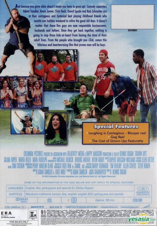 Yesasia Grown Ups 2010 Dvd Hong Kong Version Dvd Salma Hayek Adam Sandler Intercontinental Video Hk Western World Movies Videos Free Shipping