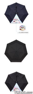 BTS - Character Folding Umbrella (Navy)
