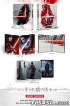 Star Wars: The Last Jedi (2D + 3D Blu-ray) (2-Disc) (Steelbook Limited Edition) (Korea Version)