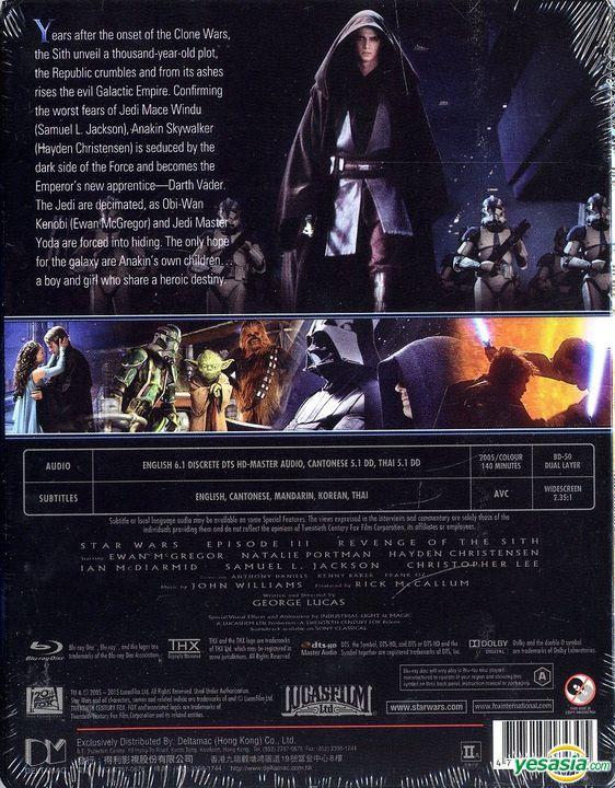 Yesasia Star Wars Episode Iii Revenge Of The Sith 2005 Blu Ray Limited Edition Steelbook Hong Kong Version Blu Ray Natalie Portman Ewan Mcgregor Deltamac Hk Western World Movies